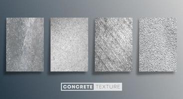 conjunto de fundo de textura de concreto. projeto da parede de pedra do grunge. ilustração vetorial vetor