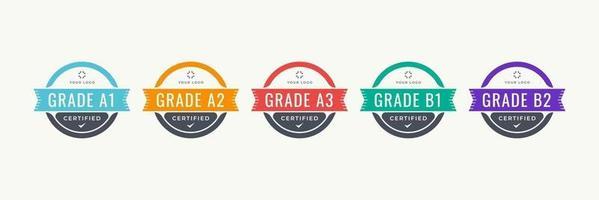 emblema de certificação digital com design de conceito moderno. modelo de crachá de logotipo certificado. ilustração vetorial. vetor