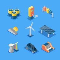 ícone de tecnologia ecológica vetor
