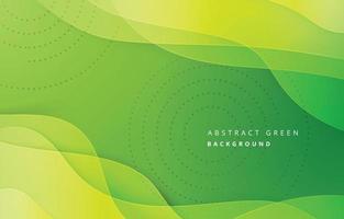 fundo verde abstrato onda vetor