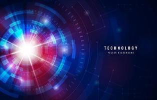 esfera de luz tecnológica azul brilhante vetor
