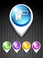 ícone de gravador de câmera de vetor