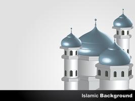 fundo da mesquita islâmica vetor