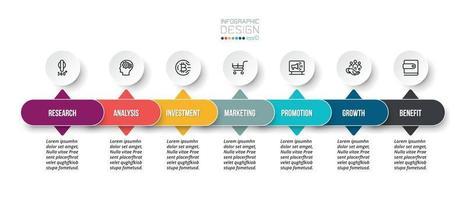 modelo de infográfico de conceito de negócio com opção. vetor