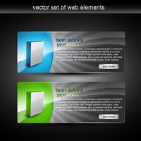 exibição de produtos web vetor