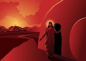 Jesus Cristo ressuscitou. dia de Páscoa vetor