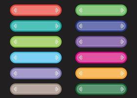 coleção de botões coloridos, desenho vetorial. vetor