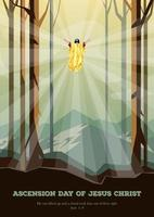 feliz dia da ascensão de jesus cristo vetor