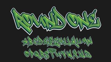 letras isoladas em estilo graffiti verde moderno