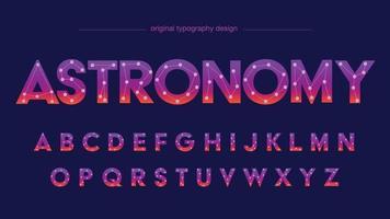 constelação de neon zodíaco letras isoladas abstratas vetor
