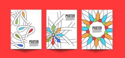 design de capa de folheto ou cartaz em ilustração de modelo de tamanho A4. vetor