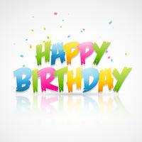 feliz aniversário cartão vetor