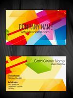 design de cartão de visita de estilo abstrato vetor