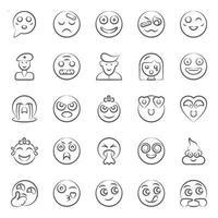 expressão facial moderna e emoji vetor