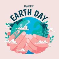 conceito do dia do meio ambiente mundial, terra ecológica verde vetor