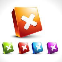 vector cruz ícone 3d design