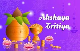 akshaya tritiya design de fundo realista vetor