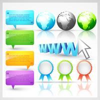conjunto de elementos da web vetor