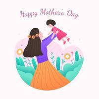 feliz dia das mães design vetor