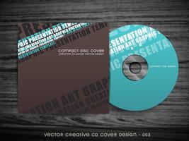 design moderno de capa de cd vetor