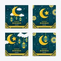 bem-vindo ramadan kareem postagem na mídia social vetor