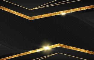 fundo preto e dourado elegante vetor