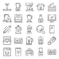eletrodomésticos, máquinas e utensílios de cozinha vetor