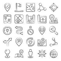 mapas, navegação e rastreador vetor