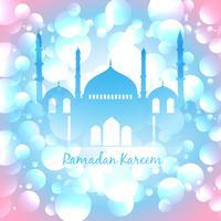fundo islâmico colorido vetor