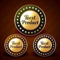 vector melhor design de rótulo dourado prduct