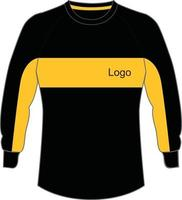maquetes de suéter de goleiro de futebol vetor
