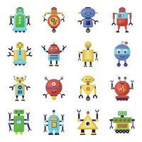 robôs e humanos biônicos vetor