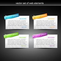 elementos da web vetor