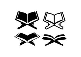 conjunto de vetores de ilustração de ícone de Alcorão Sagrado