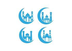 conjunto de vetores de ilustração de ícone de mesquita