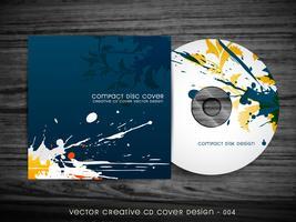 design de capa de cd abstrata vetor