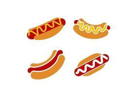 ilustração em vetor modelo de design de ícone de cachorro-quente