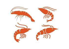 ilustração em vetor modelo de design de ícone de camarão