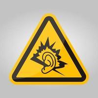 sinal de símbolo de ruído isolado em fundo branco, ilustração vetorial eps.10 vetor