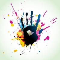 arte de grunge de mão abstrata vetor