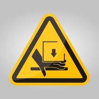 força de esmagamento de mão acima do sinal do símbolo, ilustração vetorial, isolado na etiqueta de fundo branco .eps10 vetor