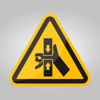 força de esmagamento da mão do sinal do símbolo superior e inferior, ilustração vetorial, isolado no fundo branco etiqueta. vetor