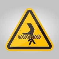 sinal de símbolo de rolos de enredamento de mão, ilustração vetorial, isolado na etiqueta de fundo branco .eps10 vetor