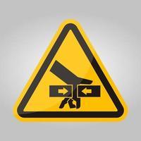 força de esmagamento de mão de sinal de símbolo de dois lados, ilustração vetorial, isolado na etiqueta de fundo branco .eps10 vetor