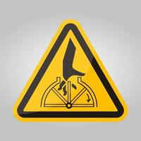 sinal de símbolo giratório de emaranhamento de mão isolado no fundo branco, ilustração vetorial eps.10 vetor