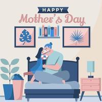 um dia cheio de sorrisos no dia das mães vetor