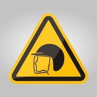 usar o símbolo do capacete de segurança isolado no fundo branco, ilustração vetorial eps.10 vetor