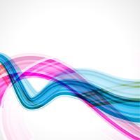 onda de linha abstrata vetor