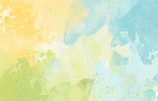 fundo aquarela pastel amarelo azul verde vetor