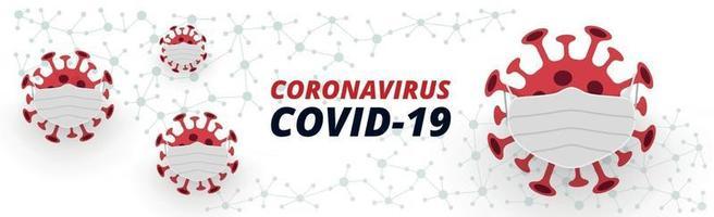 perigoso novo vírus covid-19, a imagem da bactéria - vetor
